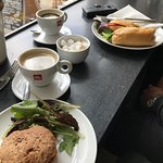 Delicious food and coffee