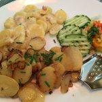 Bratkartoffeln und Kartoffeln Gratin