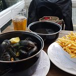 Moules frites and local IPA