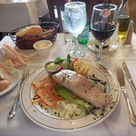 Filet of Salmon so fresh and well prepared at LA MIRABELLE