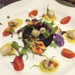 The black pudding starter is delicious