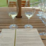 Wine tasting menu and wine at Sonoma Cutrer Winery