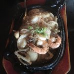 Shrimp and scallops in butter
