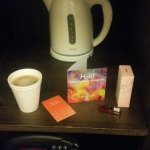 In-room water-heating flask and security safe