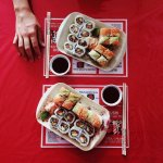 R25 - 8 California Rolls // R35 - 8 Rainbow Rolls - R60 for 16 pieces of really good Sushi!