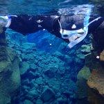 Snorkeling at Silfra