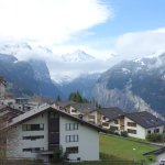 View from the above Wengen