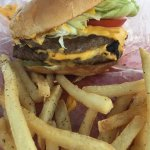 The double cheeseburger and fries!
