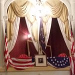 Balcony where President Lincoln was shot