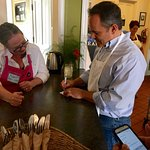Governor Matt Bevin visits the Cafe and volunteers for his meal.