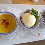 Creme Brulee Trio (3rd option is actually ice cream.)