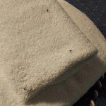 """Insectos muertos en las toallas """"limpias"""""""