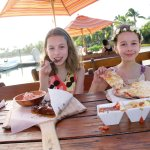 Kids enjoyed their meals; the dip trio was a good appetizer.
