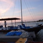 Beautiful Black Pearl sail boat, Blue Melody Sailing, Aruba.