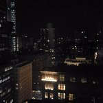 A view from our room on the 26th floor at night, overlooking Central Park.