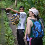 "on the waterfall trek with guide Nyoman ""Bowling"""