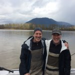 Sturgeon fishing with Silversides on the Fraser river