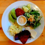 Chefs platter: different everyday, but always gluten free, vegan and sugar free