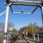 Picturesque bridge at the Reeuwijk Lake district
