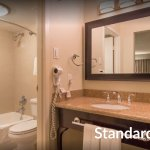 Standard Bathroom: While awaiting transformation, this room features one queen bed, fully equipp