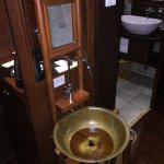 Modern bathroom amenities but still with a lot of character