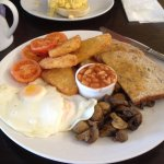 The full vegetarian breakfast (hope you are hungry).