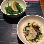 Seaweed Salad and Cucumber Salad