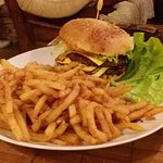 Hamburger double steak frites
