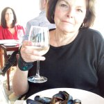 Lunch at Castle Hill this spring - mussels were delicious!