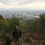 view of kyoto after hiking up from tenryuji temple and through arashiyama park....