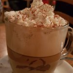 Whipped cream on top with Cinnamon
