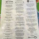 Arcadia Farms Cafe menu