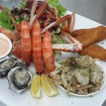 Seafood Platter with local seafood.