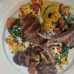 Greek Eggs and Lamb Chops