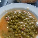 guisantes con jamón