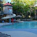 Resort side pool and water slide