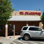 El Charritos exterior -- plenty of parking available on the side street if the lot is full