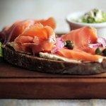 Salmon tartine