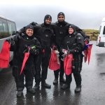 With our dry suits...it really kept us dry and warm!