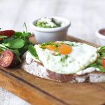 tartine with egg
