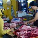 Butcher inside the market