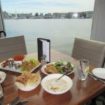 Great company ... delicious food ... wonderful view