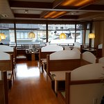 Booths to sit at in Ryokan restaurant