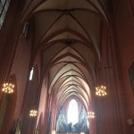 Vaulted ceilings which capture and enhance the sound of the organ.