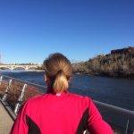 Beautiful, crisp run along the Bow River Walk!