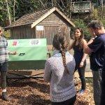 Staff training of Jora tumbling composter