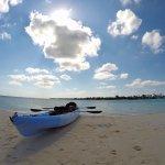 Southern Cross' kayak on Owen Island