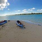 Relaxing in a Kayak on Owen Island