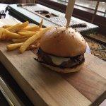 Keiki sliders - one slider with fries.