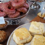 Berry crullers, traditional biscuits, scones